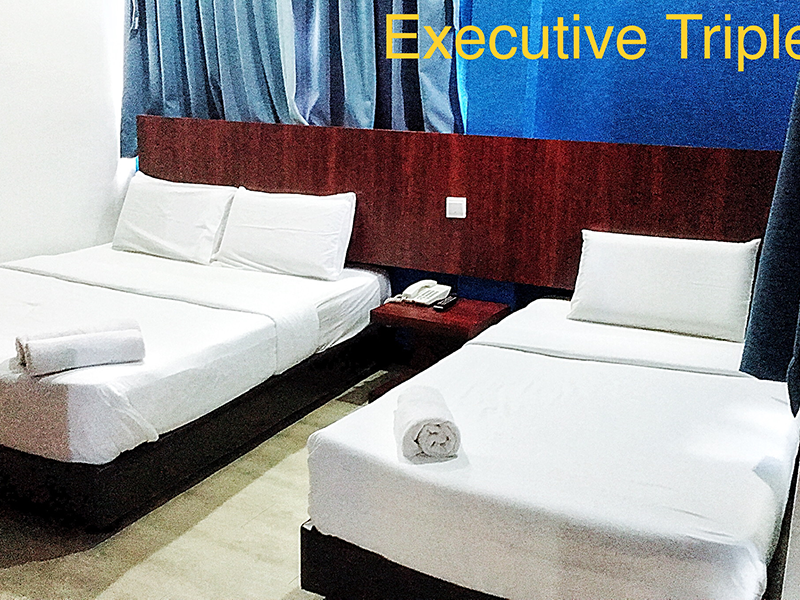 Executive Triple (1 single bed & 1 queen bed)