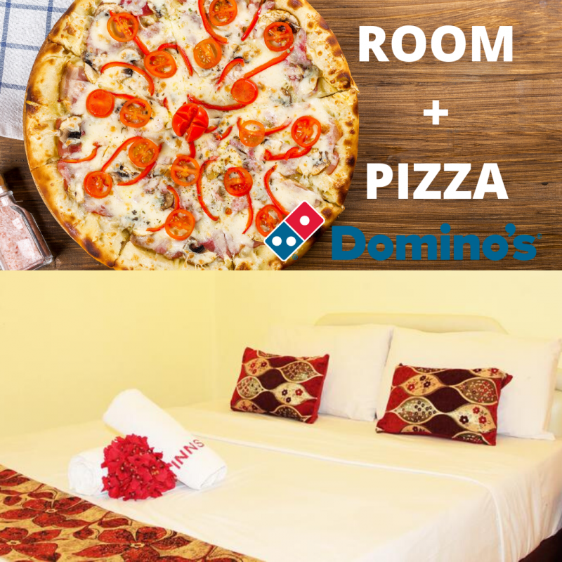 Deluxe No Window with FREE PIZZA (1 queen bed)
